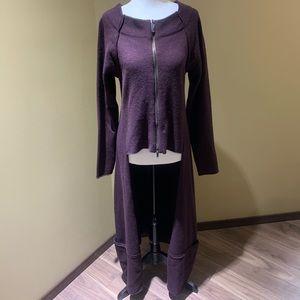 Sarah Pacini purple stunning cardigan